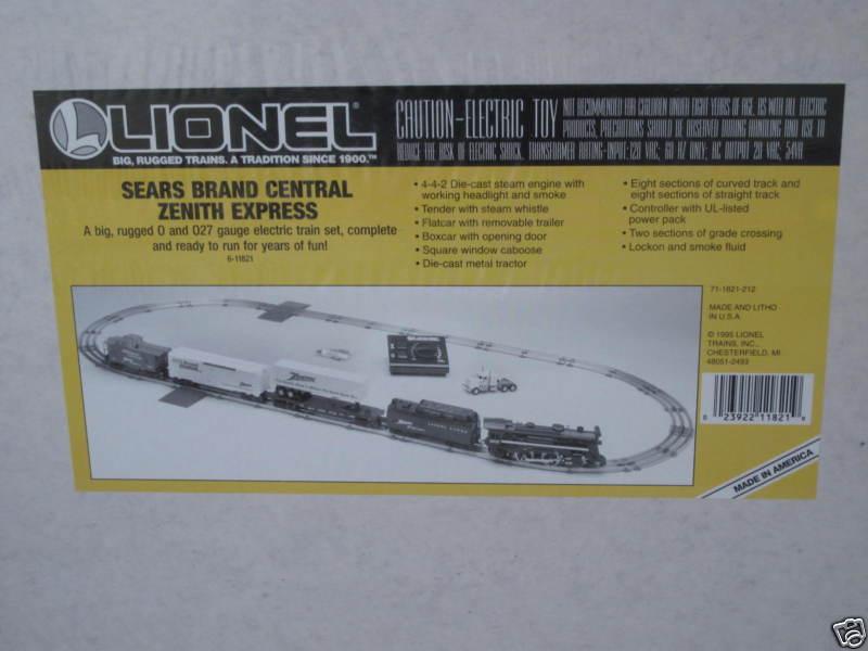 1995 Lionel 6-11821 Sears Marca Central ZENITH Express Juego Sellado Nuevo En Caja