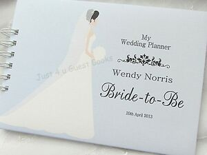 Image Is Loading Personalised Wedding Planner Bride To Be Journal Note