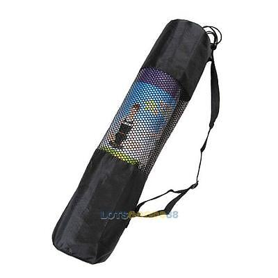 Light Weight Mesh Center Nylon Yoga Mat Bag w/ Adjustable Strap Carrier