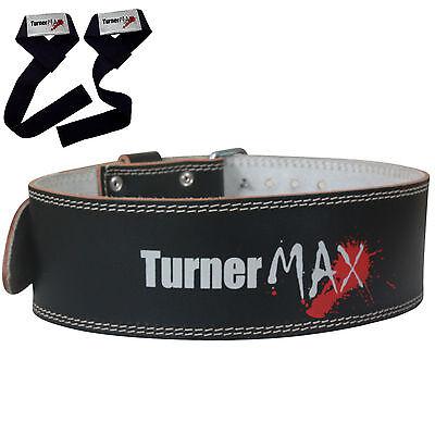 Turnermax In Pelle Powerlifting Cintura Sollevamento Pesi Supporto Posteriore Palestra Di Formazione- Originale Al 100%