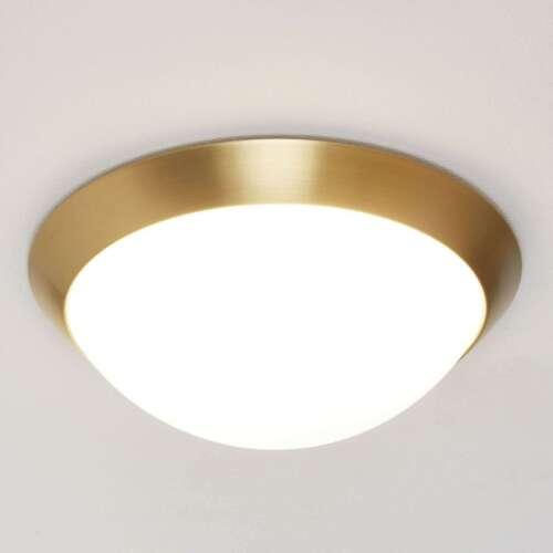 Bad-Deckenleuchte Katrin Deckenlampe IP44 Messing Matt Opalglas Weiß Badlampe