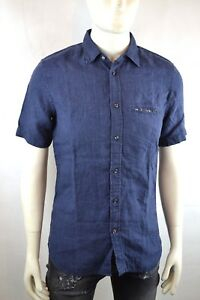 Diesel-S-EMIKO-CAMICIA-Herren-Hemd-Shirt-Camicia-Kurzarm-Shirt-Jeanshemd-Jeans-S