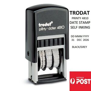 DATE STAMP Trodat 4810 Compact Self-Inking Rubber Stamp BRAND NEW PRINTY 3.8MM