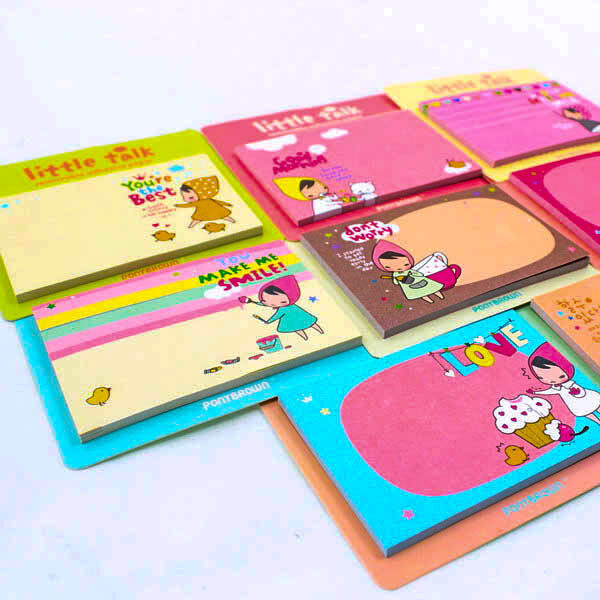 Sweet Cartoon Girl Memo Sticky Note Stick It Post Kit Bookmarks Pad Paper A0104