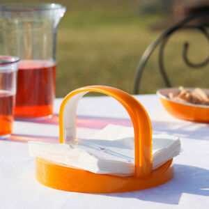 Trendy Table Napkin Holder Serviette Tray Outdoor Party with Handle /& Wind Flap