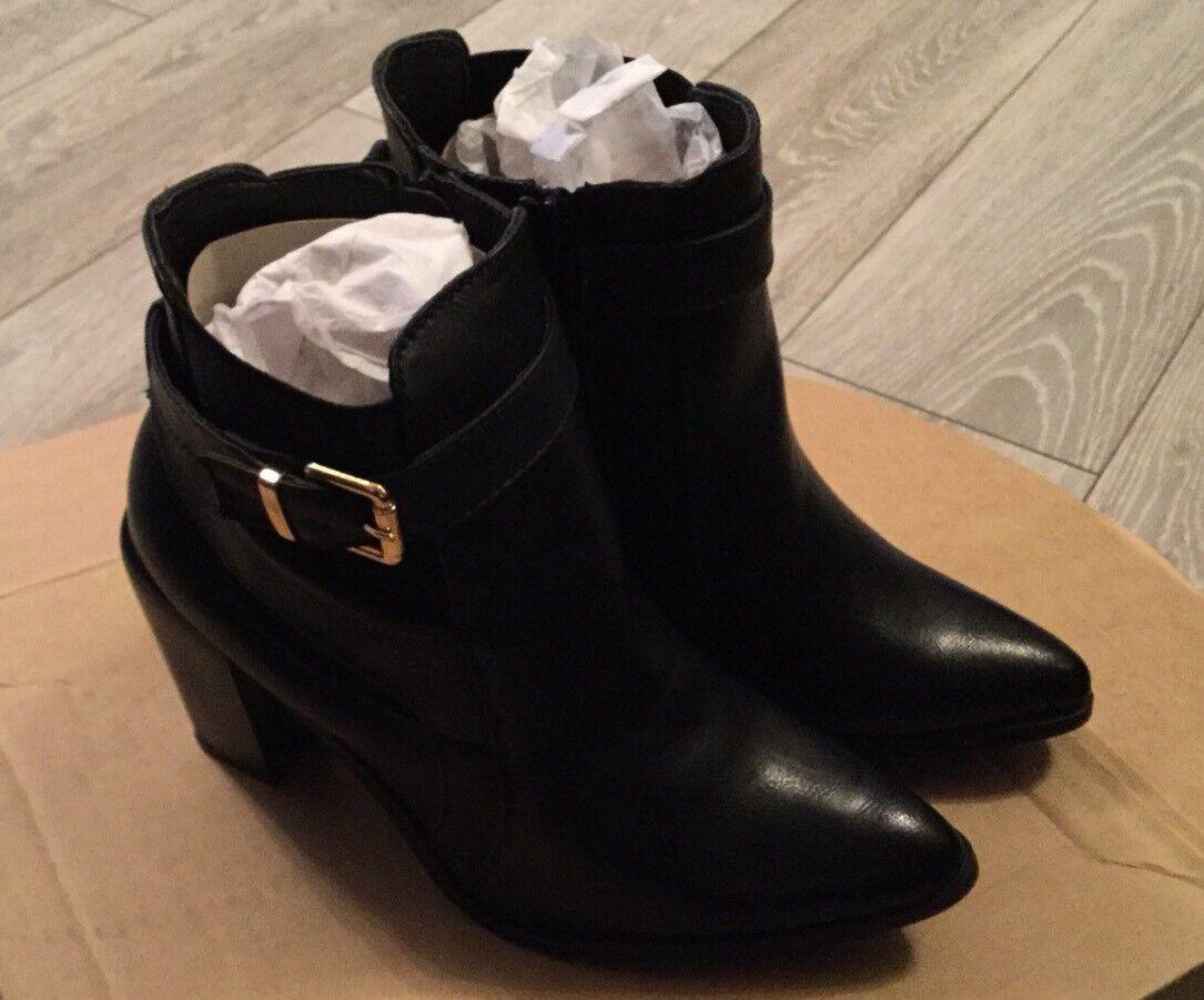 Dolcis Stivaletti Neri Fibbia con tacco boot Taglia 8 Scarpa elegante Boot