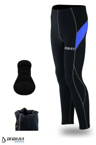 Deckra Men/'s Cycling Trouser+Jersey Long Sleeves Thermal Winter Bicycle Tights