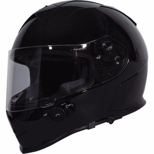 Torc Mako T14 Solid Glossy Black Bluetooth Motorcycle Helmet XL