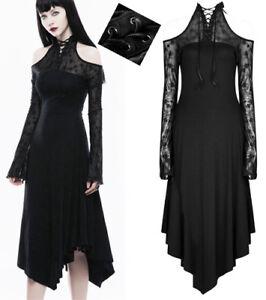 Details Schulterfrei Glam Lolita Rock Party Spitze Gothic Zu Kleid Punkrave Schnürung Punk bf7yYg6