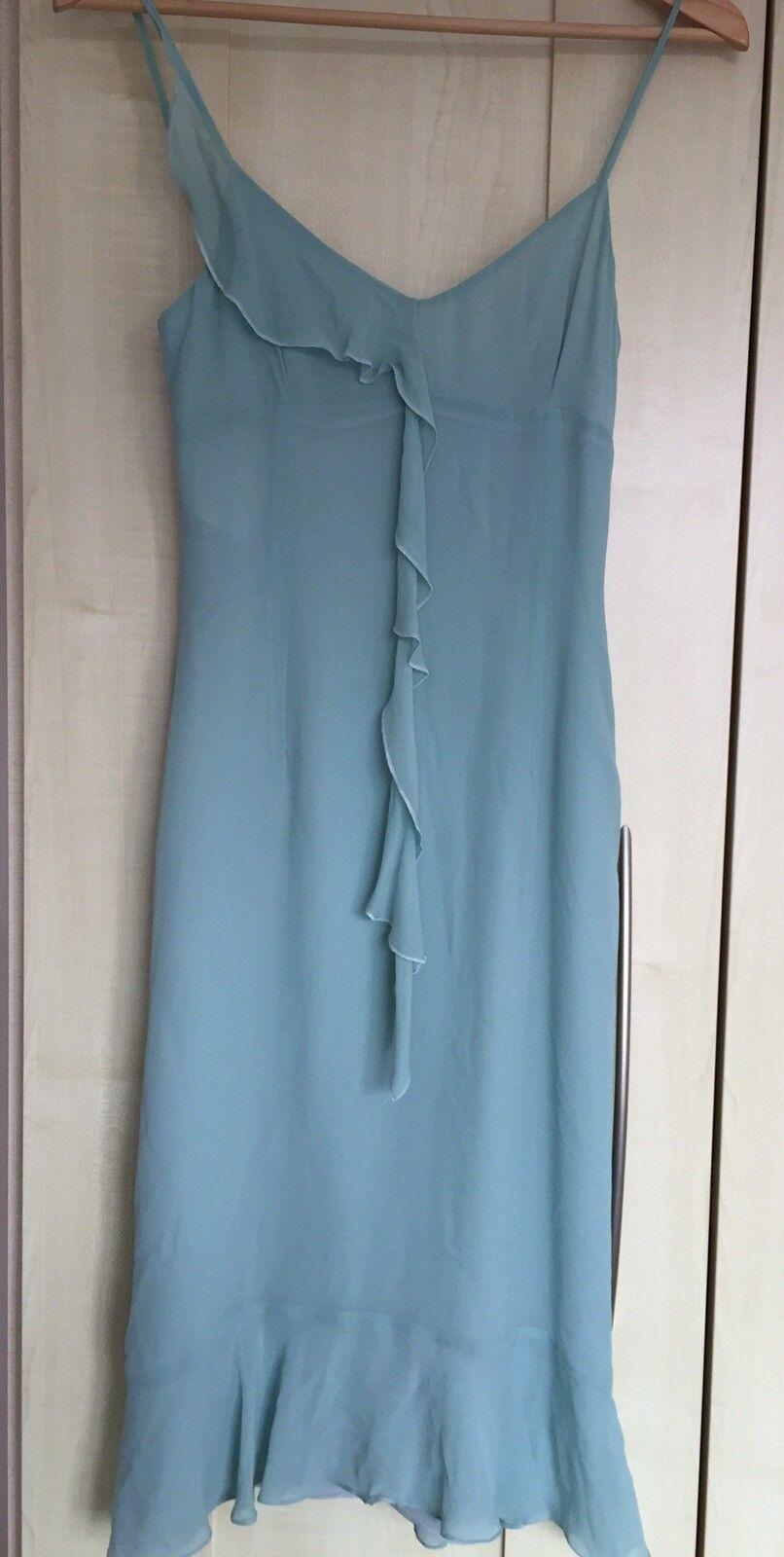 Beautiful aqua, size 8 dress by Karen Millen