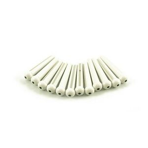 White With Black Dot 12 Plastic Bridge Pins NEW