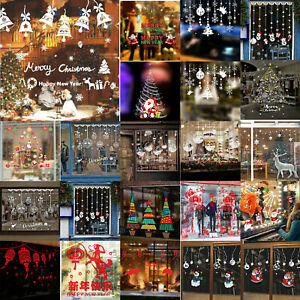 Christmas-Xmas-Window-Decor-Wall-Sticker-Adornment-Wall-Glass-Featival-Removable