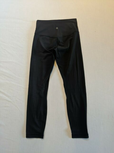 LULULEMON Wunder Under High Rise Cropped Leggings - Black - Sz 6