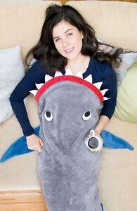 UK-Kids-Adult-Shark-Mermaid-Tail-Blanket-Soft-Snuggle-in-Sleeping-Bag-Costumes