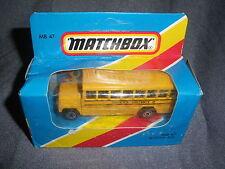 274B Vintage Matchbox 1981 MB 47 Autobus Scolaire Bus School District 2 US 1:76