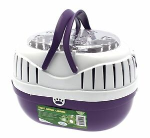 Happy-Pet-Animal-Carrier-violet-grande-taille-Hamsters-gerbilles-souris-reptiles