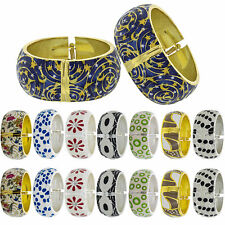 Bangle Bracelet Wide Cuff Spring Hinged 2 Pack