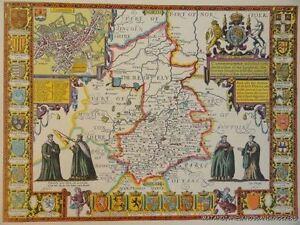 OLD-COPY-OF-JOHN-SPEED-MAP-OF-CAMBRIDGESHIRE-CAMBRIDGE-TOWN-PLAN