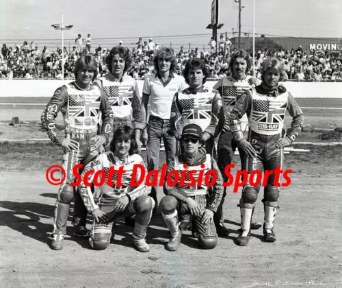 1981 TEAM USA 8 X 10 SPEEDWAY MOTORCYCLE PHOTO FROM IMS  PENHALL SCHWARTZ  MORAN