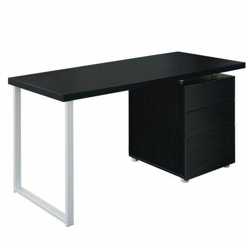 Artiss 3 Drawer 140x60x72cm Computer Desk Black For Sale Online Ebay