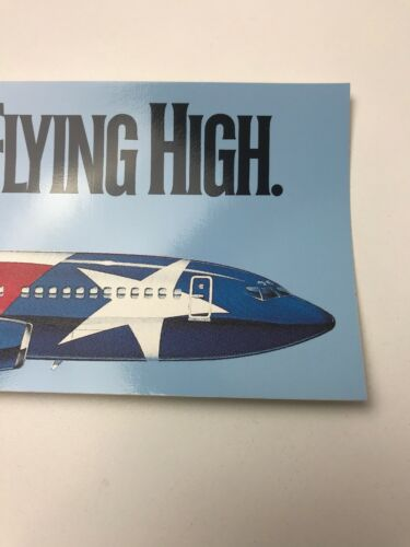 NOS 1990 Southwest Airlines SWA The Lone Star Is Flying High Bumper Sticker