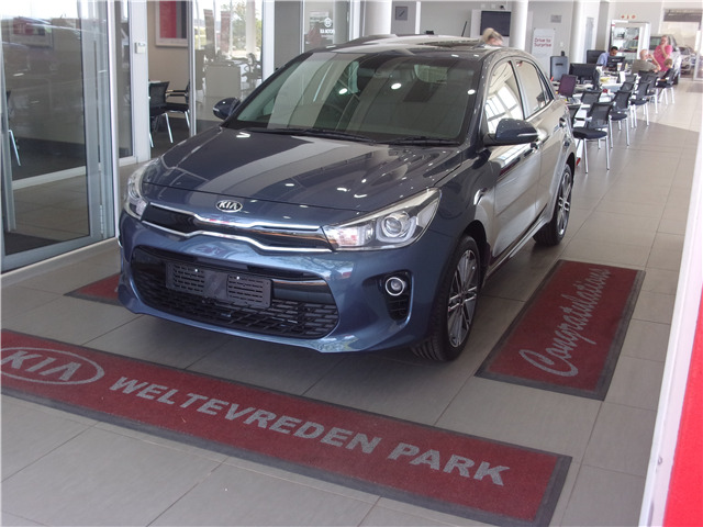 SMOKE BLUE Kia Rio 1.4 Tec 5-door AT with 50km available now!