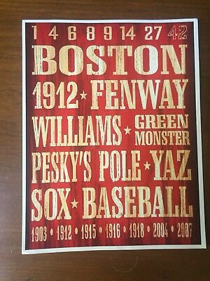 TIN SIGN Boston Red Rusty Sox Baseball Sports Fenway Park Décor Store Bar A863