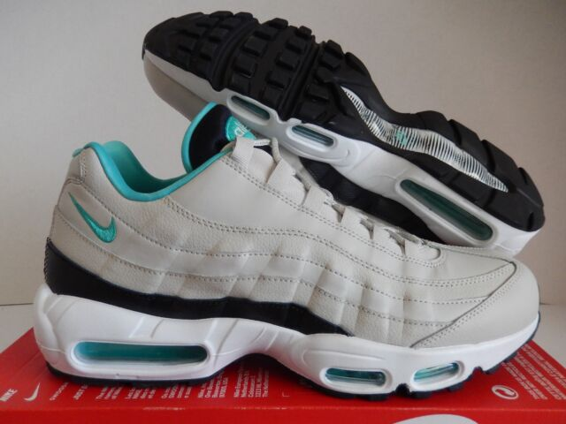 NIKE AIR MAX 95 ESSENTIAL LIGHT BONE-SPORT TURQUOISE-BLACK SZ 12 [749766