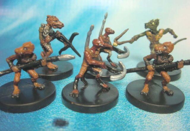 Dungeons & Dragons Miniatures Lot  Kobold Warrior Kobold Archer !!  s104