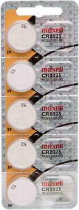 5x-Maxell-CR2025-Knopfzelle-1x-5-039-er-Blister-Batterie-3v-Lithium-CR-2025