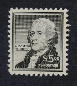 Ckstamps: US stamps collection Scott #1053 $5 Hamilton Comme neuf H ORIGINAL GUM 50 $