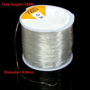 und Armbandherstellung 100 m Elastischer Faden//Schnur für Schmuck 0,8 mm DE
