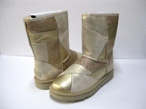 109c7223063 Details about UGG CLASSIC GLITTER PATCHWORK WOMEN BOOTS GOLD US 11 /UK 9  /EU 42