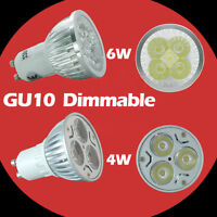 Dimmable GU10/MR16 4W 6W LED Bulbs Spot Light Lamp High Power Day/Warm White