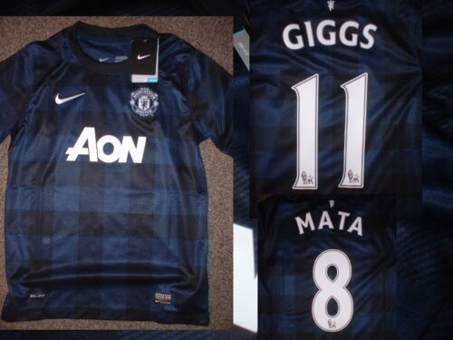 Manchester United Nike BNWT Boys Youth L Giggs Mata Rooney Soccer Shirt Jersey B