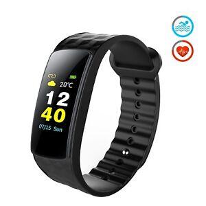 Bracelet-Connecte-Tracker-Fitness-d-039-activite-Affichage-ecran-couleur-moniteur