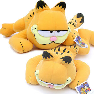 "Garfield Plush Doll Figure -16"" Large Tummy Down Pose  Licensed  Suffed Toy"