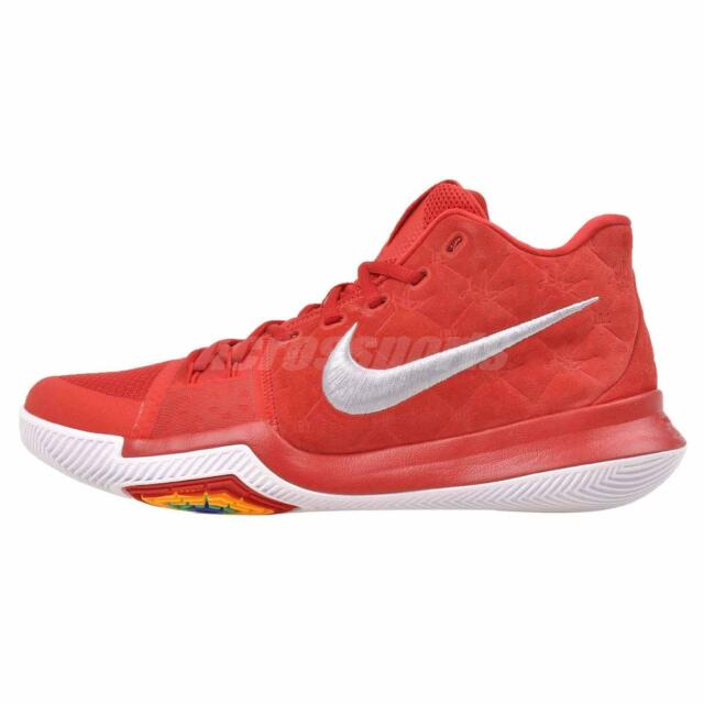 low priced a666f 876a8 Nike Kyrie 3 Basketball Mens Shoes University Red 852395-601 Multiple Sizes