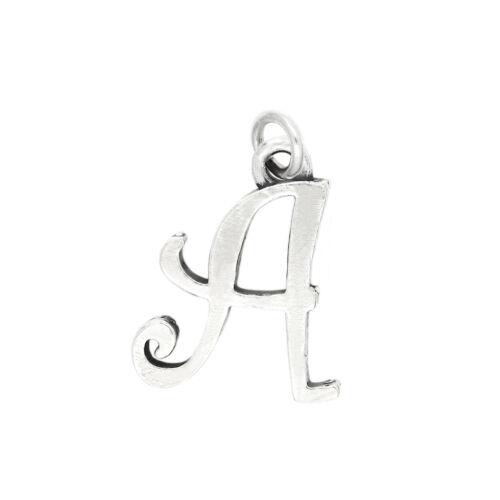 Sterling Silver Cursive Initiale Lettre A Charm Pendentif