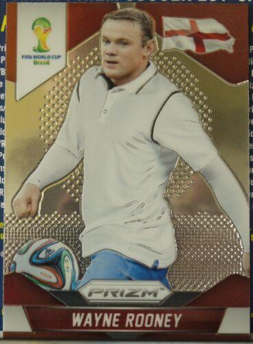 Wayne Rooney Panini Prizm Copa del Mundo 2014 Tarjetas de base nueva condición gradable