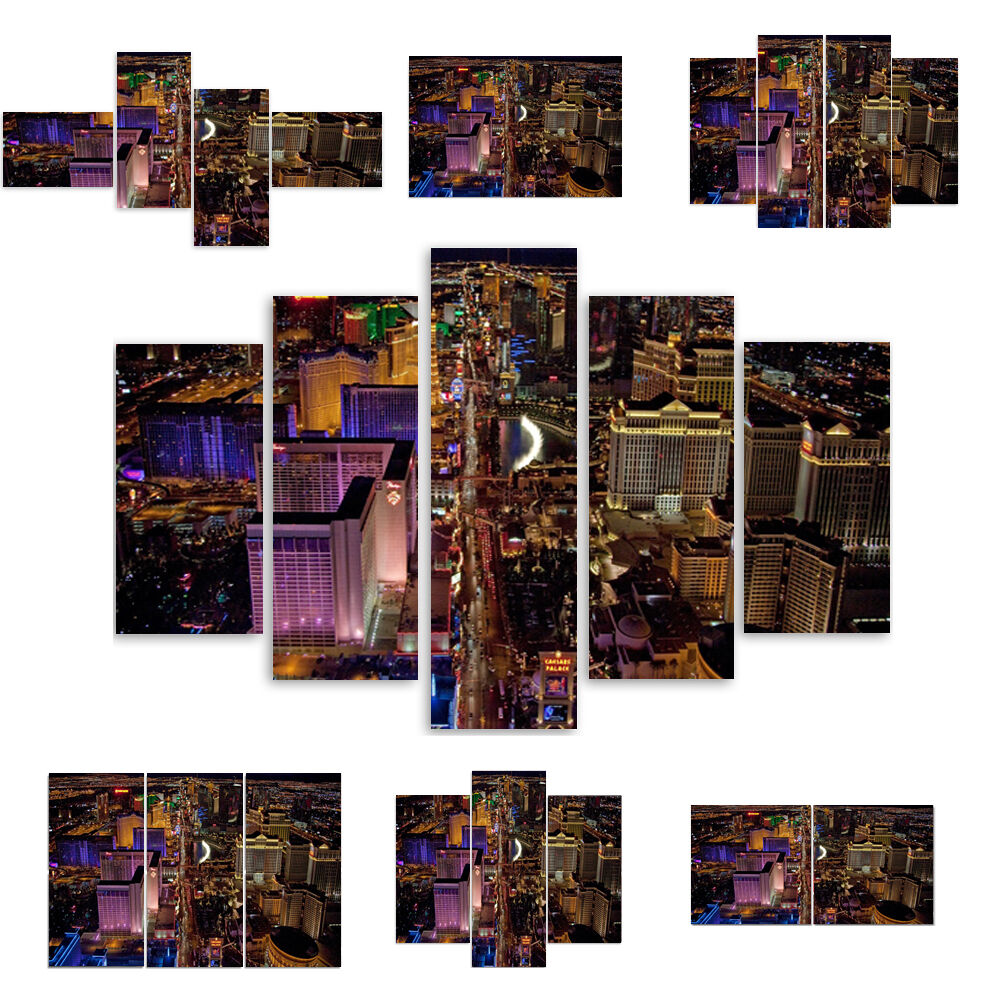 TOP LEINWAND BILD BILDER (54 Muster) Stadt Stadt Mehrfarbig Las Vegas 1665