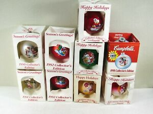 Campbell-039-s-Soup-Christmas-Ornaments-Set-of-9-1990-039-s