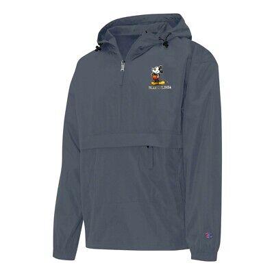 Champion Orlando Florida Mickey Men/'s Navy Half Zip Windbreaker Jacket