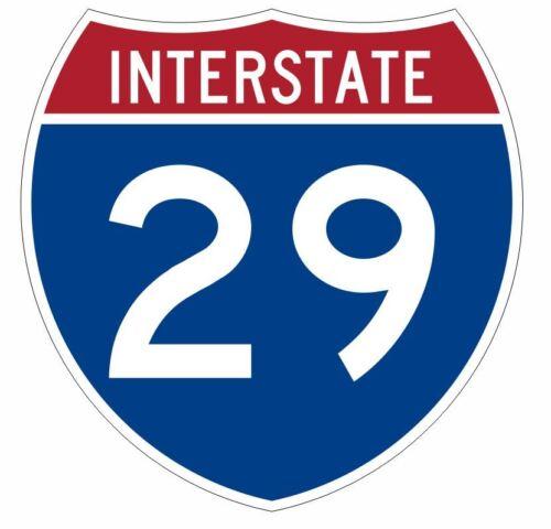 Interstate 29 Sticker Decal R899 Highway Sign