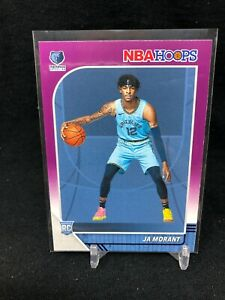 2019-20-Panini-NBA-Hoops-JA-MORANT-RC-ROOKIE-Purple-Parallel-259-RARE-M71