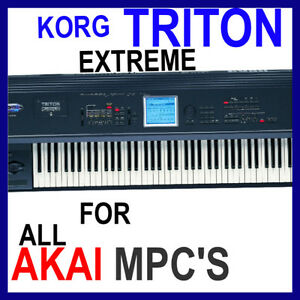 Details about KORG TRITON EXTREME SAMPLES AKAI MPC 2500 5000 4000 2000  TOUCH X REN STUDIO 45GB