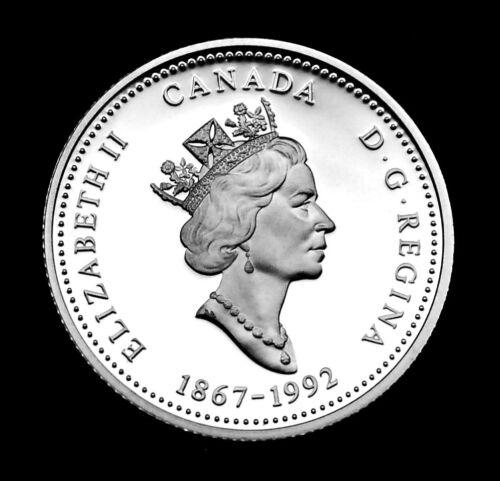 1867-1992 Manitoba Canada Silver Proof 125th Anniversary 25 Cents
