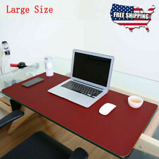 Non Slip Dual Side Pu Leather Desk Pad Keyboard Mouse Protector Mat 47x235