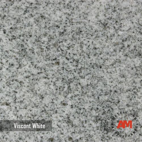 Granitfliesen Viscont White Poliert Gefast Bodenfliesen Sockel Edelstahl Leisten