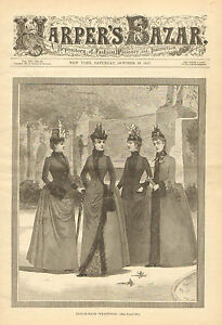 Victorian-Ladies-Fashions-Tailor-Made-w-Text-Vintage-1887-Antique-Art-Print